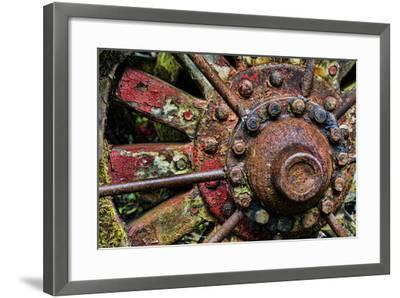 Washington State, Forks. Detail of Antique Logging Equipment-Jaynes Gallery-Framed Photographic Print