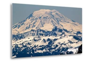 Snowy Mount Saint Adams Mountain Glacier from Crystal Mountain-William Perry-Metal Print