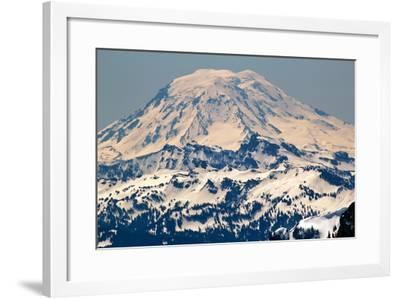 Snowy Mount Saint Adams Mountain Glacier from Crystal Mountain-William Perry-Framed Photographic Print