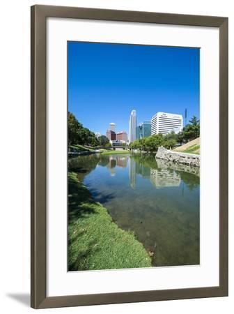 City Park Lagoon with Downtown Omaha, Nebraska, Usa-Michael Runkel-Framed Photographic Print