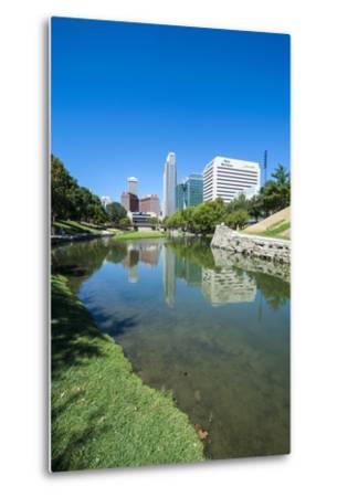 City Park Lagoon with Downtown Omaha, Nebraska, Usa-Michael Runkel-Metal Print