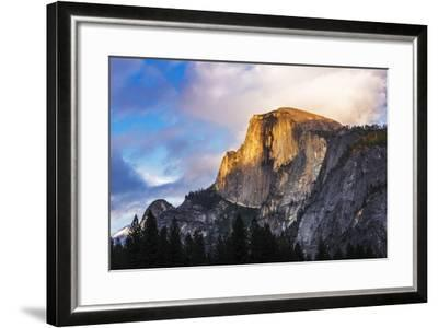 Evening Light on Half Dome, California, Usa-Russ Bishop-Framed Photographic Print