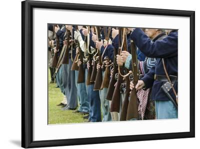 Union Soldiers at the Thunder on the Roanoke Civil War Reenactment in Plymouth, North Carolina-Michael DeFreitas-Framed Photographic Print