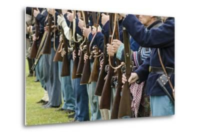 Union Soldiers at the Thunder on the Roanoke Civil War Reenactment in Plymouth, North Carolina-Michael DeFreitas-Metal Print