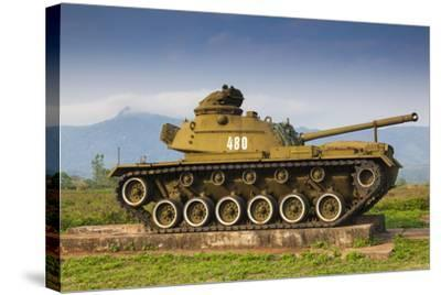 Vietnam, Dmz Area. Quang Tri Province, Khe Sanh, Exterior Display of Us Army Tank-Walter Bibikow-Stretched Canvas Print
