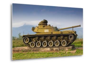 Vietnam, Dmz Area. Quang Tri Province, Khe Sanh, Exterior Display of Us Army Tank-Walter Bibikow-Metal Print
