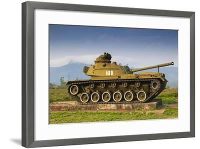 Vietnam, Dmz Area. Quang Tri Province, Khe Sanh, Exterior Display of Us Army Tank-Walter Bibikow-Framed Photographic Print