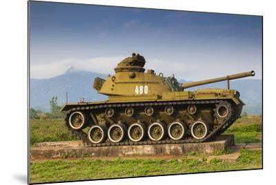 Vietnam, Dmz Area. Quang Tri Province, Khe Sanh, Exterior Display of Us Army Tank-Walter Bibikow-Mounted Photographic Print