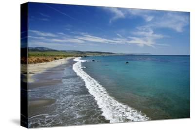 California Central Coast, San Simeon, William Randolph Hearst Memorial Beach-David Wall-Stretched Canvas Print