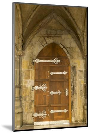 Czech Republic, Prague. Wooden Door in St. Vitus Cathedral-Jaynes Gallery-Mounted Photographic Print