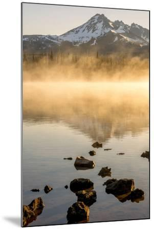 Oregon, Sparks Lake. Misty Lake and Mt. Bachelor-Jaynes Gallery-Mounted Photographic Print