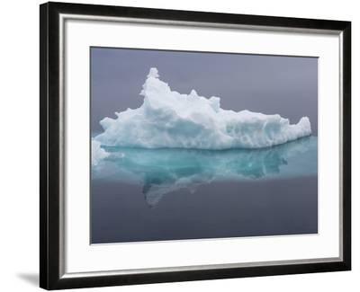 Arctic Ocean, Norway, Svalbard. Iceberg Reflects in Ocean-Jaynes Gallery-Framed Photographic Print