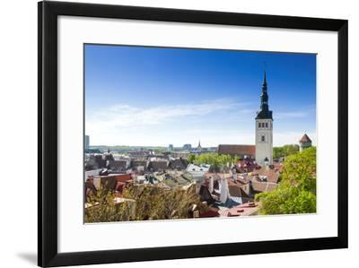 Medieval Town Walls and Spire of St-Nico Tondini-Framed Photographic Print