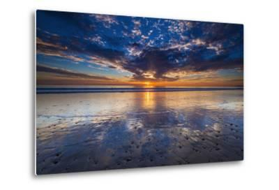 Sunset over the Channel Islands from Ventura State Beach, Ventura, California, Usa-Russ Bishop-Metal Print