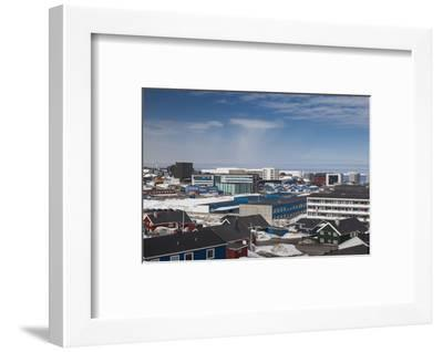 Greenland, Nuuk, Elevated Skyline View-Walter Bibikow-Framed Photographic Print