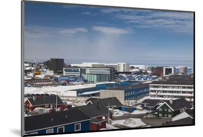 Greenland, Nuuk, Elevated Skyline View-Walter Bibikow-Mounted Photographic Print