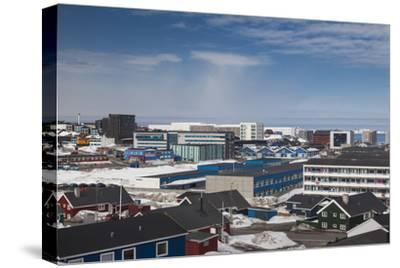 Greenland, Nuuk, Elevated Skyline View-Walter Bibikow-Stretched Canvas Print