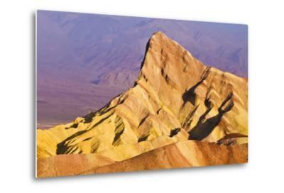 Dawn Light on Manly Beacon from Zabriskie Point, Death Valley National Park. California Usa-Russ Bishop-Metal Print