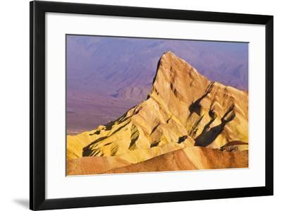 Dawn Light on Manly Beacon from Zabriskie Point, Death Valley National Park. California Usa-Russ Bishop-Framed Photographic Print
