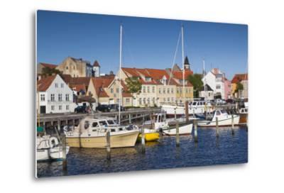 Denmark, Funen, Faaborg, Port View-Walter Bibikow-Metal Print