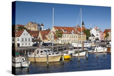 Denmark, Funen, Faaborg, Port View-Walter Bibikow-Stretched Canvas Print