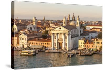 Skyline from Above with Gesuati in Front. Venice. Italy-Tom Norring-Stretched Canvas Print