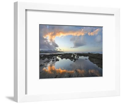 Calm Water Reflects the Sunset Clouds, Playa Santa Teresa, Costa Rica-Tim Fitzharris-Framed Photographic Print