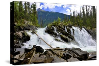 Ghost Lake Waterfall on the Matthew River in the Cariboo Mountains of B.C-Richard Wright-Stretched Canvas Print