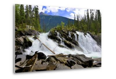 Ghost Lake Waterfall on the Matthew River in the Cariboo Mountains of B.C-Richard Wright-Metal Print