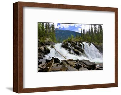 Ghost Lake Waterfall on the Matthew River in the Cariboo Mountains of B.C-Richard Wright-Framed Photographic Print