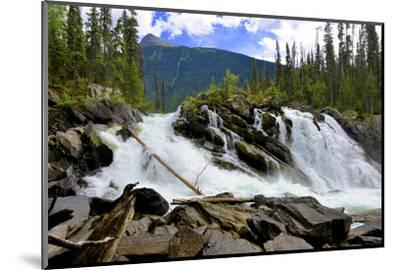 Ghost Lake Waterfall on the Matthew River in the Cariboo Mountains of B.C-Richard Wright-Mounted Photographic Print