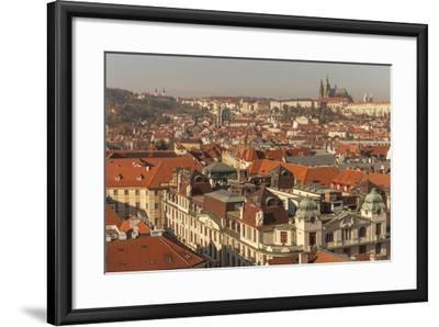 Birds Eye View from Old Town Square. Church of Our Lady of Tryn. Prague. Czech Republic-Tom Norring-Framed Photographic Print