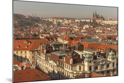 Birds Eye View from Old Town Square. Church of Our Lady of Tryn. Prague. Czech Republic-Tom Norring-Mounted Photographic Print