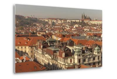 Birds Eye View from Old Town Square. Church of Our Lady of Tryn. Prague. Czech Republic-Tom Norring-Metal Print