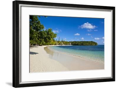 White Sand Beach Bay De Kanumera, Ile Des Pins, New Caledonia, Melanesia, South Pacific-Michael Runkel-Framed Photographic Print