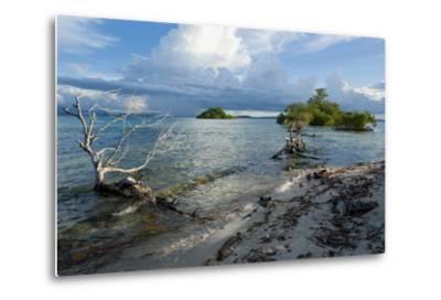 Huge Cloud Formations over the Marovo Lagoon, Solomon Islands, Pacific-Michael Runkel-Metal Print