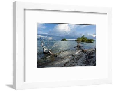 Huge Cloud Formations over the Marovo Lagoon, Solomon Islands, Pacific-Michael Runkel-Framed Photographic Print