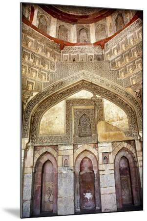 Decorations Inside Ancient Sheesh Shish Gumbad Tomb Lodi Gardens, New Delhi, India-William Perry-Mounted Photographic Print