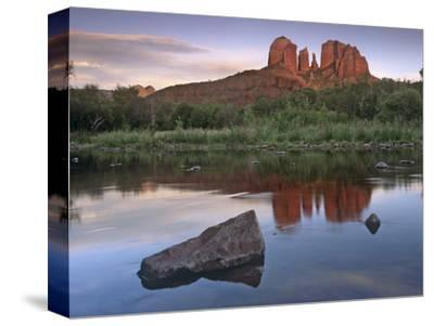 Cathedral Rock at Red Rock Crossing, Arizona, Usa-Tim Fitzharris-Stretched Canvas Print