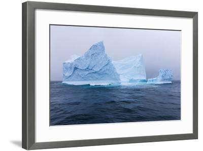 South Georgia Island. Large Iceberg on Cloudy Day-Jaynes Gallery-Framed Photographic Print