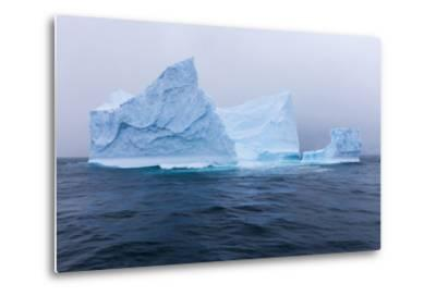 South Georgia Island. Large Iceberg on Cloudy Day-Jaynes Gallery-Metal Print