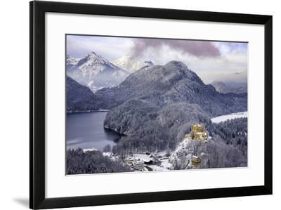 Hohenschwangau Castle and the Mountains of Bavaria Near Schwangau, Germany-Brian Jannsen-Framed Photographic Print