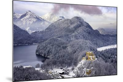 Hohenschwangau Castle and the Mountains of Bavaria Near Schwangau, Germany-Brian Jannsen-Mounted Photographic Print
