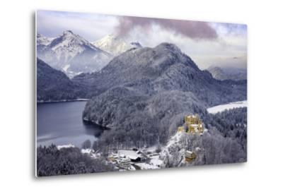 Hohenschwangau Castle and the Mountains of Bavaria Near Schwangau, Germany-Brian Jannsen-Metal Print
