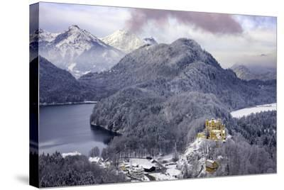 Hohenschwangau Castle and the Mountains of Bavaria Near Schwangau, Germany-Brian Jannsen-Stretched Canvas Print