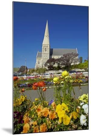 Flowers and St. Luke's Anglican Church, Oamaru, North Otago, South Island, New Zealand-David Wall-Mounted Photographic Print
