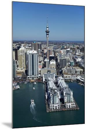 Sky Tower and Auckland Waterfront, Auckland, North Island, New Zealand-David Wall-Mounted Photographic Print