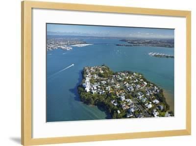 Stanley Point, Waitemata Harbour, and Auckland Harbour Bridge, Auckland, North Island, New Zealand-David Wall-Framed Photographic Print