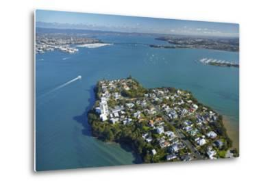 Stanley Point, Waitemata Harbour, and Auckland Harbour Bridge, Auckland, North Island, New Zealand-David Wall-Metal Print