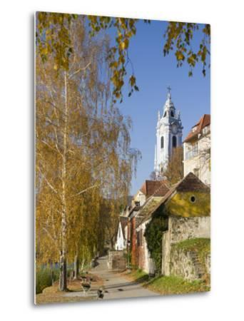 Collegiate Church in Durnstein, an Icon of the Wachau Area. Austria-Martin Zwick-Metal Print